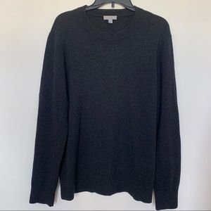 COS WOOL AND YAK HAIR BLACK SWEATER